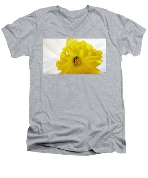 Heart Of A Daffodil  Men's V-Neck T-Shirt