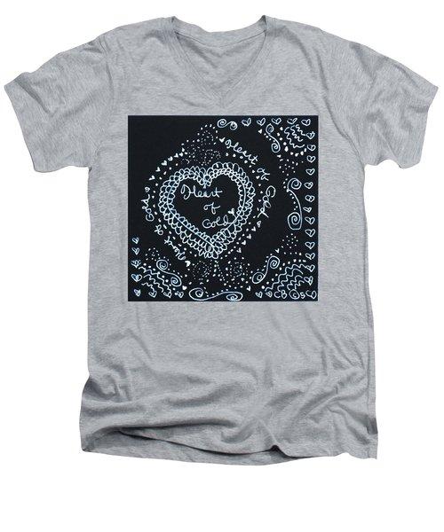 Heart Of Gold Men's V-Neck T-Shirt