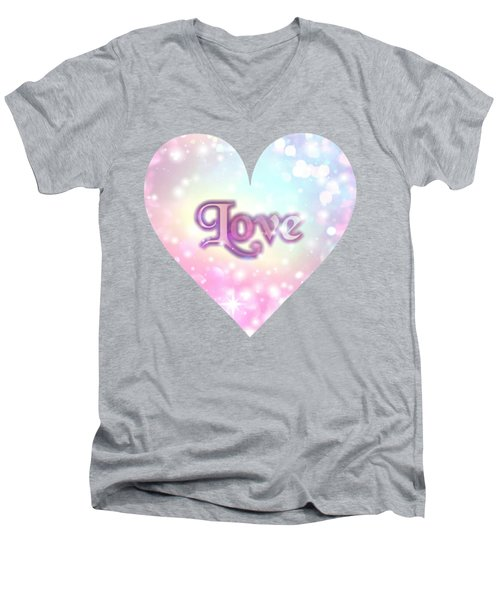 Heart Of Love Men's V-Neck T-Shirt