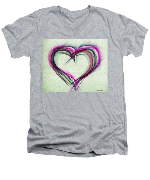 Heart Of Many Colors Men's V-Neck T-Shirt