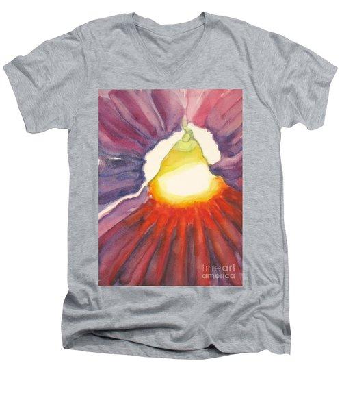 Heart Of The Flower Men's V-Neck T-Shirt by Inese Poga
