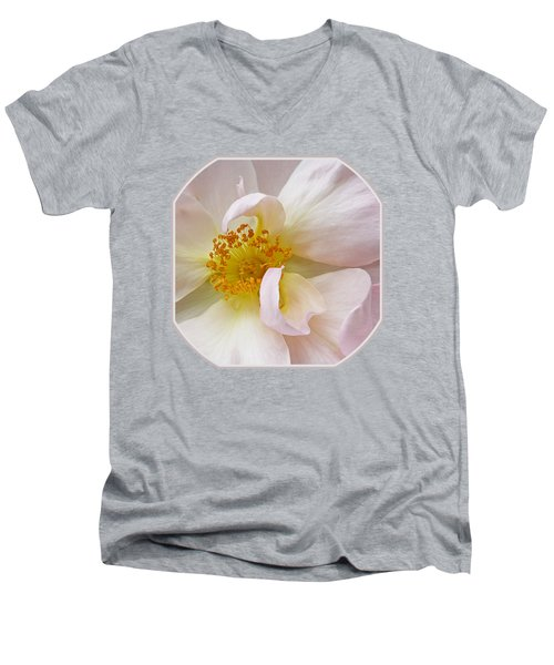 Heart Of The Rose Men's V-Neck T-Shirt