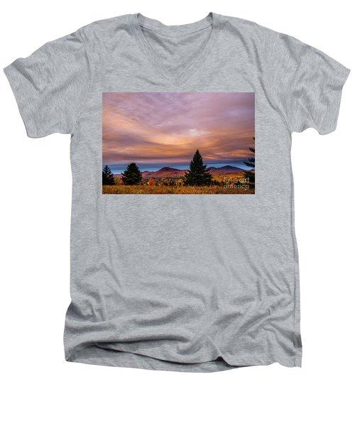 Heart Opeing In The Sky Men's V-Neck T-Shirt