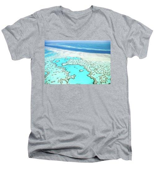 Heart Reef Men's V-Neck T-Shirt by Az Jackson