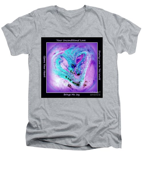 Heart Swirl Sedona Men's V-Neck T-Shirt by Marlene Rose Besso