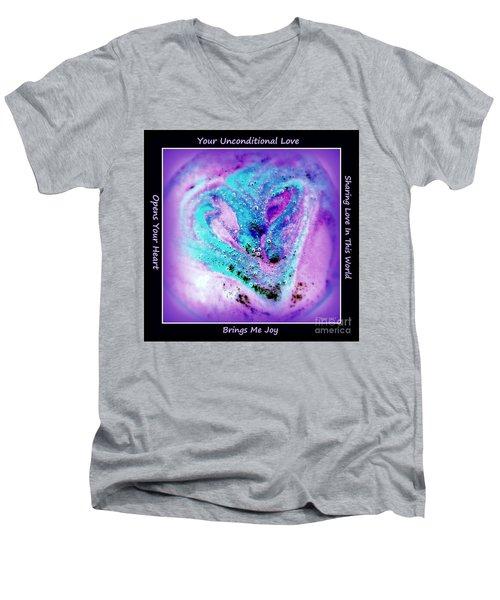 Heart Swirl Sedona Men's V-Neck T-Shirt