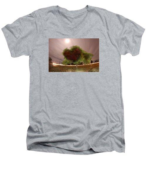 Heart Tree Scene Men's V-Neck T-Shirt by Andrew Nourse