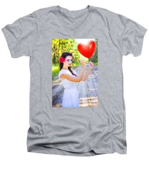 Men's V-Neck T-Shirt featuring the photograph Heartache And Heartbreak by Jorgo Photography - Wall Art Gallery