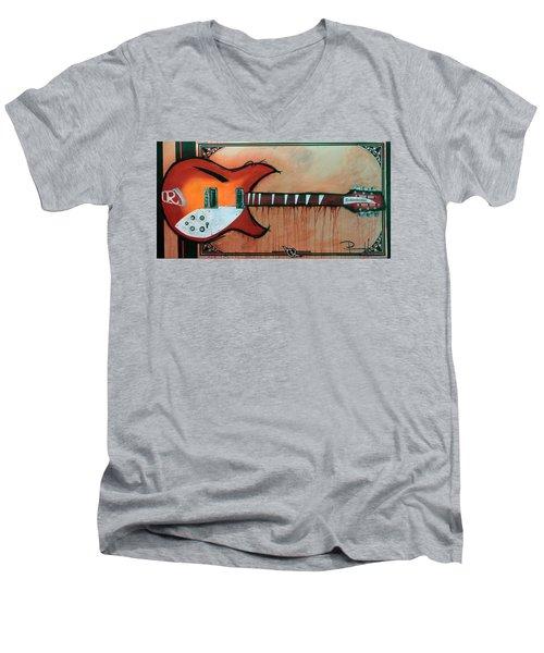 Heartbreaking 12 String Men's V-Neck T-Shirt