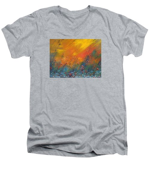 Heartland  Men's V-Neck T-Shirt by Dan Whittemore
