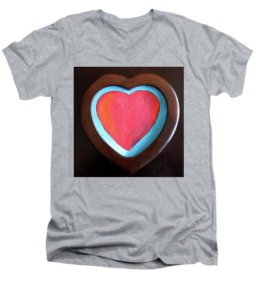 Hearts Afire Men's V-Neck T-Shirt
