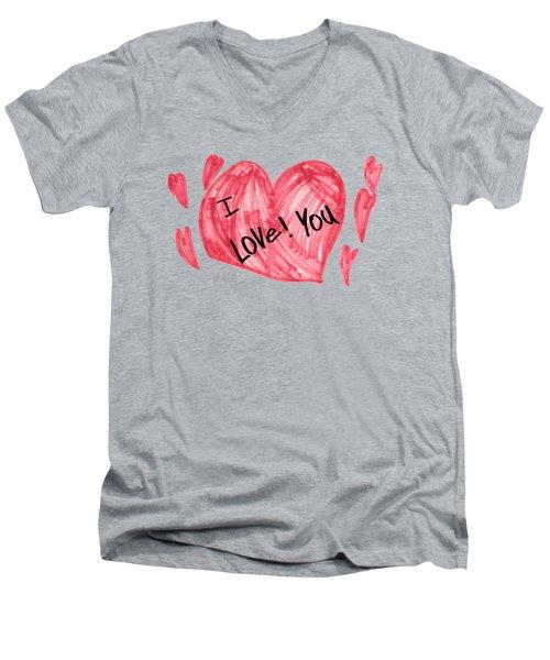 Hearts - I Love You Men's V-Neck T-Shirt