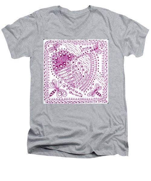 Hearts Men's V-Neck T-Shirt