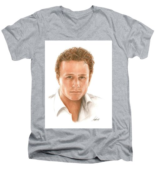Heath Men's V-Neck T-Shirt by Bruce Lennon