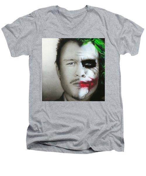 Heath Ledger / Joker Men's V-Neck T-Shirt
