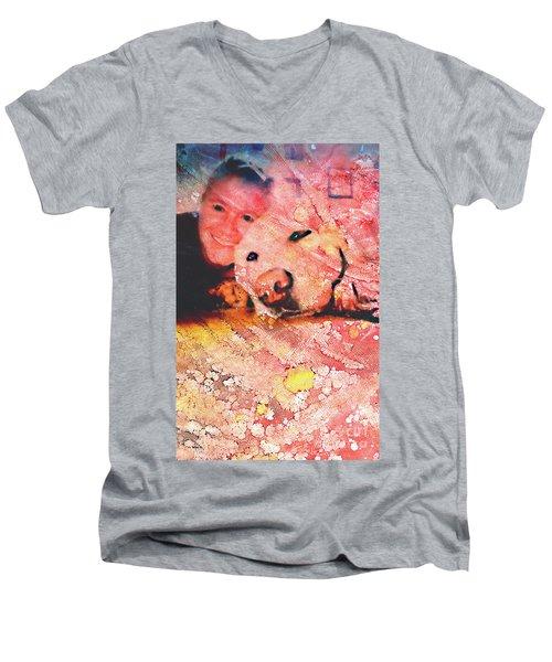 Heather Men's V-Neck T-Shirt