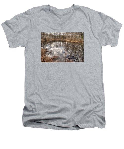 Heaven Below Men's V-Neck T-Shirt by Betsy Zimmerli