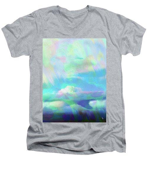 Heaven Men's V-Neck T-Shirt by Karen Nicholson