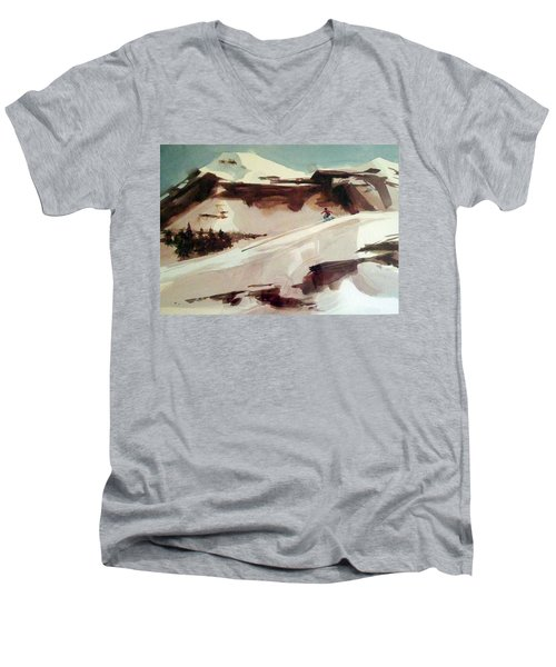 Men's V-Neck T-Shirt featuring the painting Heavenly by Ed Heaton