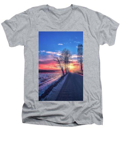 Heavenly Journey Men's V-Neck T-Shirt by Rose-Marie Karlsen