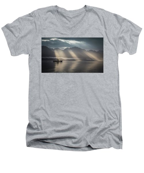 Heavenly Light Men's V-Neck T-Shirt