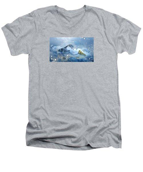 Heavenly Shells Men's V-Neck T-Shirt