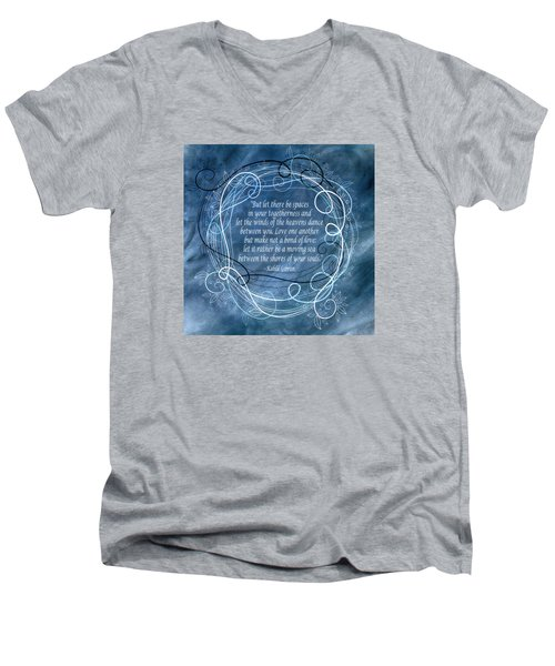 Men's V-Neck T-Shirt featuring the digital art Heavens Dance by Angelina Vick