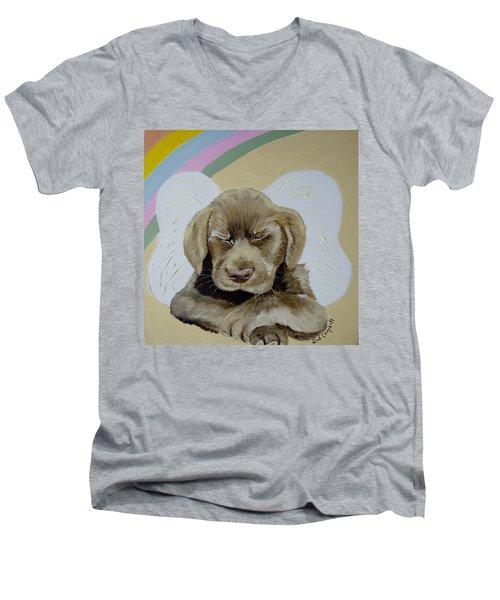Heaven's Little Angel Men's V-Neck T-Shirt