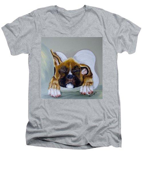 Heavens Little Angel Two Men's V-Neck T-Shirt