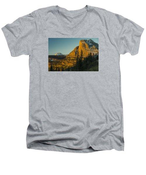 Heavy Runner Mountain Men's V-Neck T-Shirt by Gary Lengyel