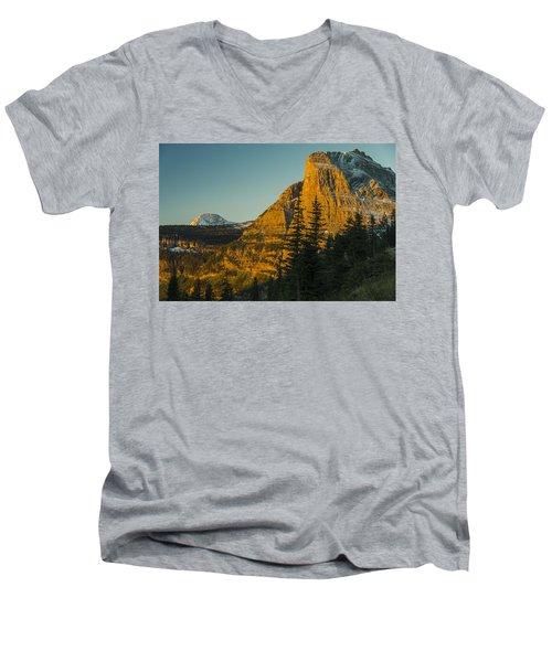 Heavy Runner Mountain Men's V-Neck T-Shirt