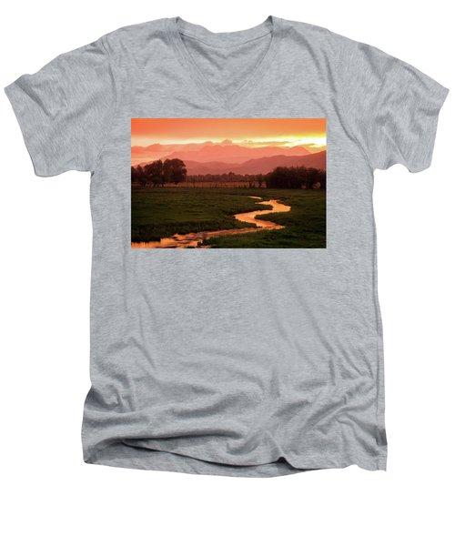 Heber Valley Golden Sunset Men's V-Neck T-Shirt