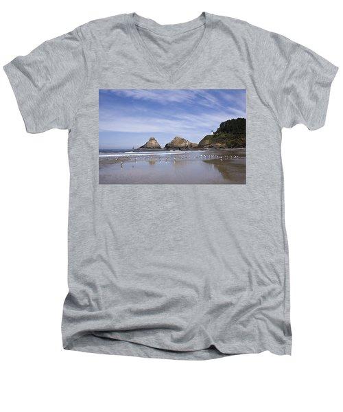 Heceta Head Lighthouse 1 Men's V-Neck T-Shirt