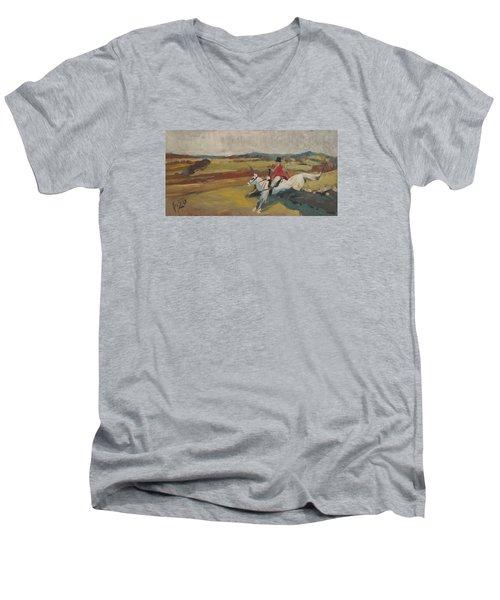 Hedge Hopping Britain Men's V-Neck T-Shirt by Nop Briex