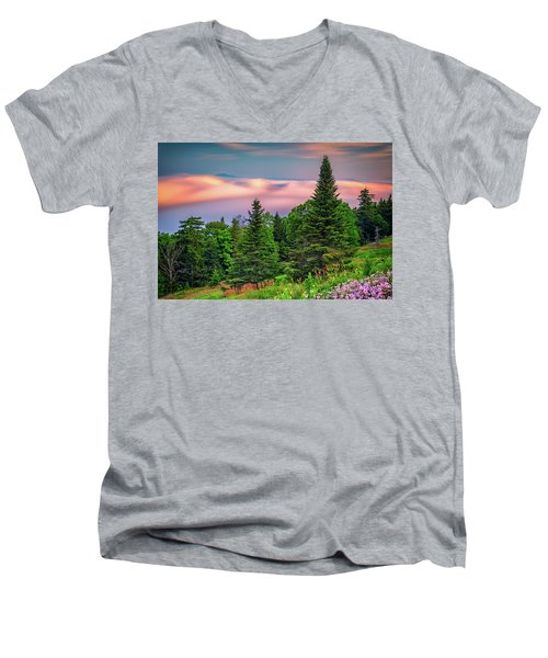 Men's V-Neck T-Shirt featuring the photograph Height Of Land by Rick Berk