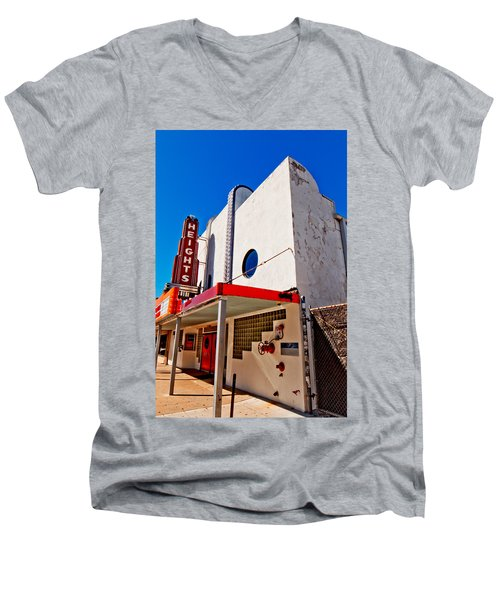 Heights Movie Theater Men's V-Neck T-Shirt