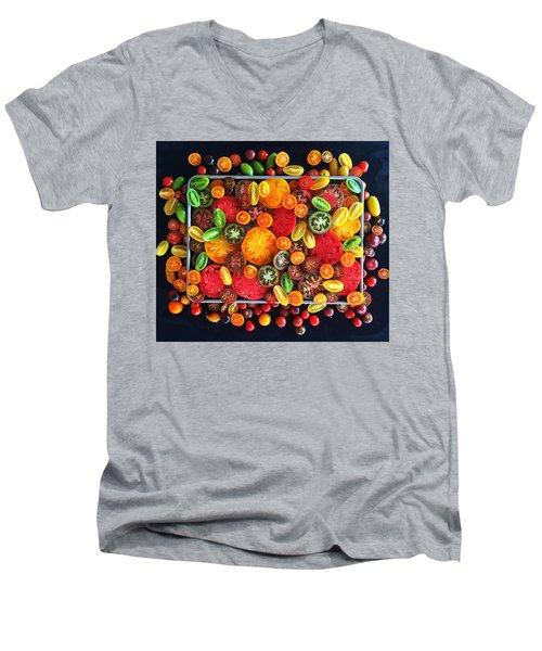 Heirloom Tomato Medley Men's V-Neck T-Shirt