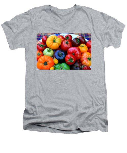 Heirloom Tomatoes Men's V-Neck T-Shirt