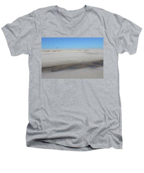 Helecopter Shirley New York Men's V-Neck T-Shirt by Bob Savage