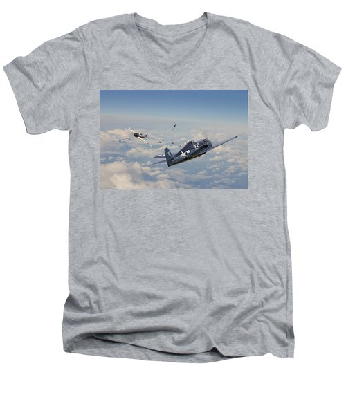 Hellcat F6f - Duel In The Sun Men's V-Neck T-Shirt