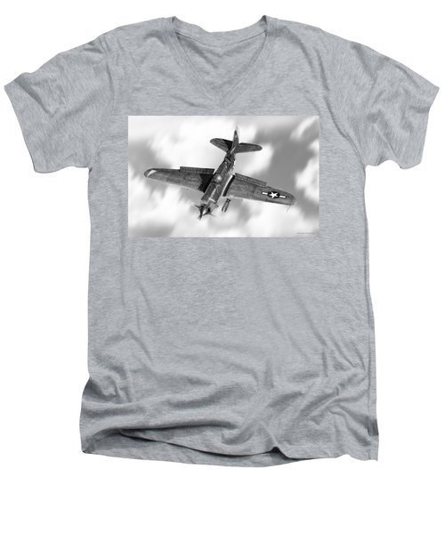 Helldiver Men's V-Neck T-Shirt by Douglas Castleman