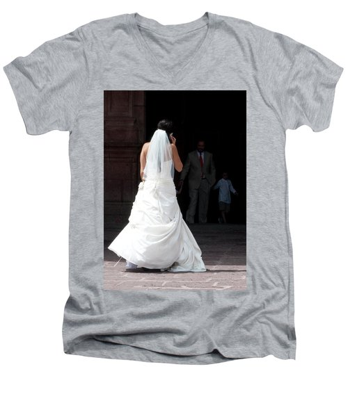 Hello Mama...i'm Not Sure.. Men's V-Neck T-Shirt