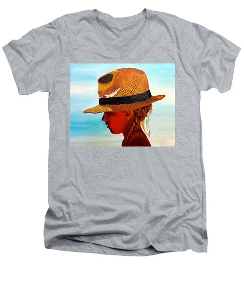 Hello Mr. Sunshine Men's V-Neck T-Shirt
