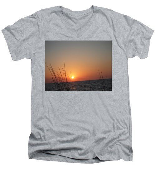 Men's V-Neck T-Shirt featuring the photograph Hello Night by Robert Margetts