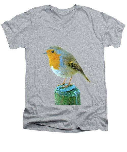 Hello Robin Men's V-Neck T-Shirt