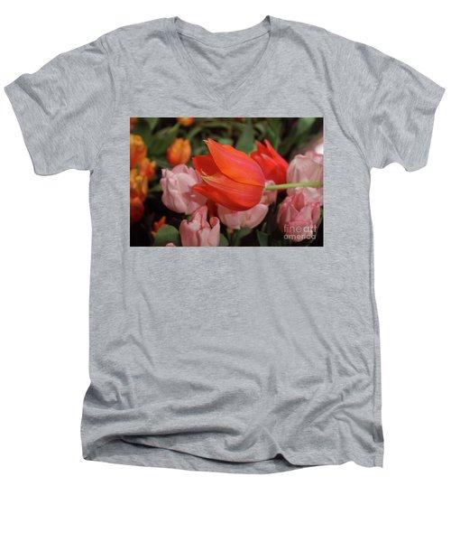 Hello Men's V-Neck T-Shirt by Sandy Moulder