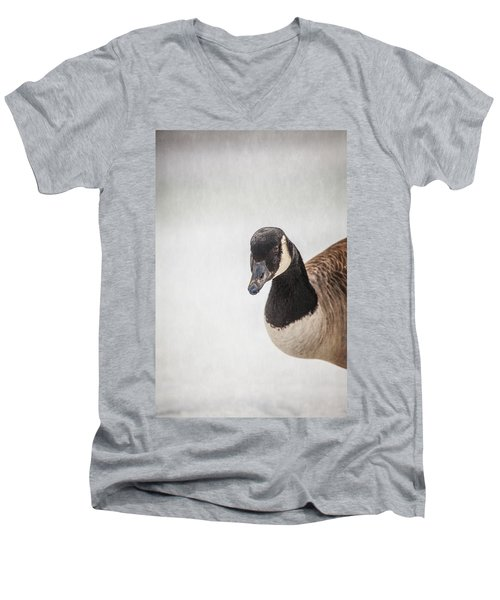 Hello There Men's V-Neck T-Shirt by Karol Livote