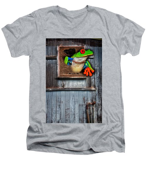 Hello World Men's V-Neck T-Shirt