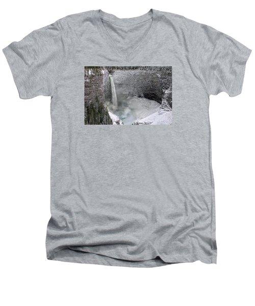 Helmcken Falls Men's V-Neck T-Shirt by Ed Hall