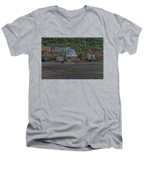 Men's V-Neck T-Shirt featuring the photograph Help 4 by Timothy Latta